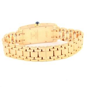 Cartier Tank Americaine W26015K2 18K Yellow Gold 19mm Womens Watch