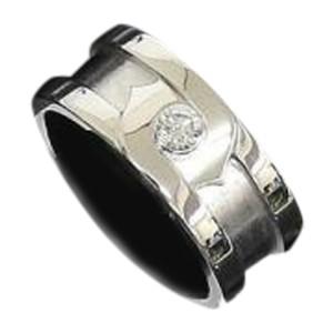 Cartier 18K White Gold Diamond 2C Motif Band Ring