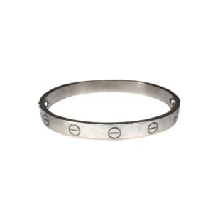 Cartier Platinum Love Bracelet Size 16