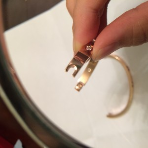 Cartier Rose Gold Love Bracelet 10 Diamonds Size 17