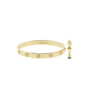 Cartier Love Yellow Bracelet Gold Size 16