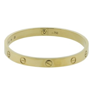 Cartier Love Yellow Bracelet Gold Size 19