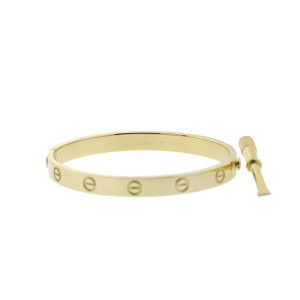 Cartier Love Yellow Bracelet Gold Size 17