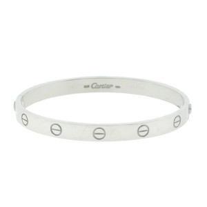 Cartier Love Bracelet White Gold Size 16