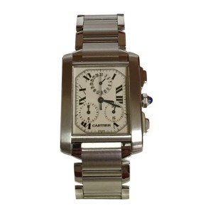 Cartier Tank Francaise Chronoflex Stainless Steel Watch  W51001Q3