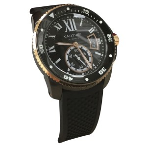 Cartier Calibre De Cartier W2CA0004 Diver ADLC-Coated Stainless Steel & 18K Rose Gold 42mm Watch