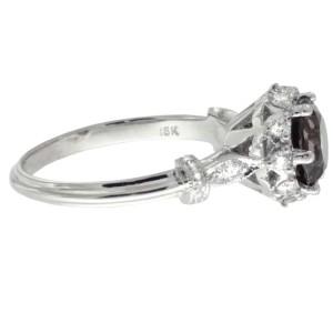 Tacori 18K White Gold Smoky Quartz .25ctw Diamond Ring Size 6.5