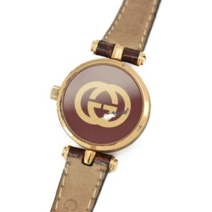 GUCCI Sherry line Gold Plated/Leather Quartz Ladies Watch