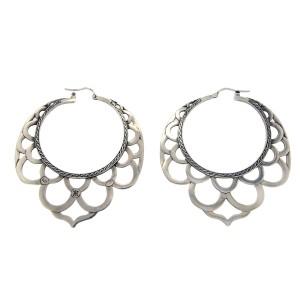 John Hardy 925 Sterling Silver 18K Yellow Gold Earrings