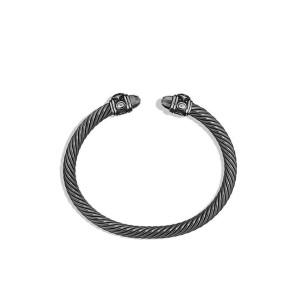 David Yurman Darkened Sterling Silver Classic Cable Renaissance Bracelet
