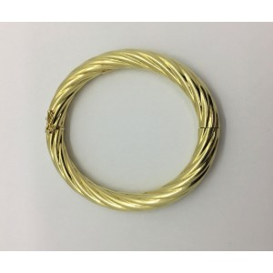 14K Yellow Gold Vintage Twisted Bangle Bracelet