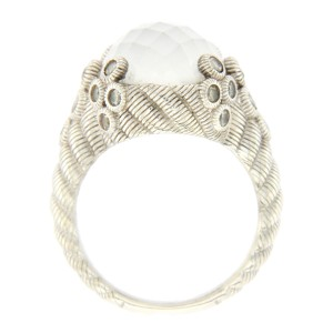 Judith Ripka 925 Sterling Silver White Doublet and Daimonique Ring Size 8
