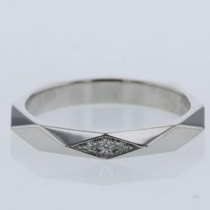 Boucheron Platinum Facet Ring