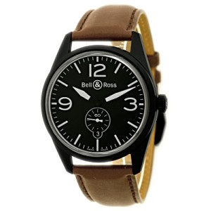 """Bell & Ross """"Vintage"""" Black PVD Stainless Steel Mens Watch"""