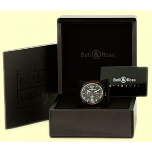 "Bell & Ross ""Vintage"" Chronograph Black PVD Stainless Steel Mens Watch"