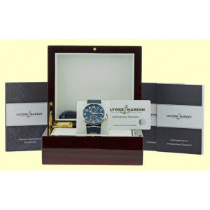 "Ulysse Nardin ""1846 Maxi Marine"" Stainless Steel Automatic 41mm Mens Watch"