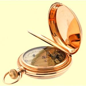 Mathey 18K Rose Gold Vintage Pocket Watch