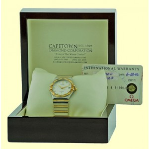 Omega 18K Yellow Gold, Sterling Silver, Stainless Steel Bracelet