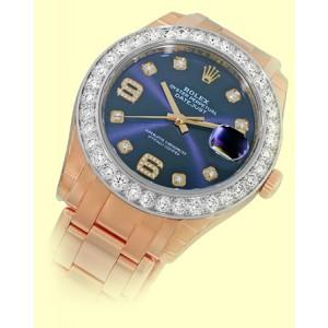 Rolex 86285. 18K White Gold, 18K Rose Gold Diamond, Cultured Pearl Bracelet