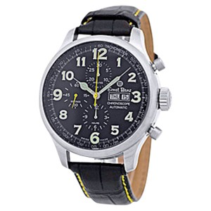 "Ernst Benz ""Chronoscope"" Stainless Steel Mens Strap Watch 47mm"
