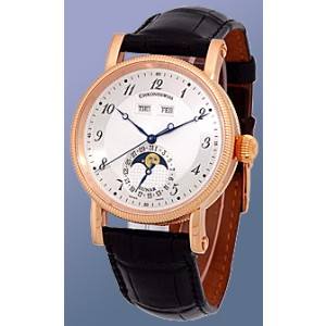 Chronoswiss Lunar Triple Calendar CH9321-R 18K Rose Gold 38mm Strap Watch