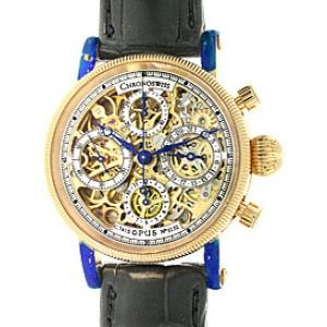 Chronoswiss Opus Skeleton Chronograph 18K Yellow Gold Mens Watch