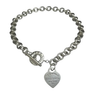 Tiffany & Co. Return To Tiffany 925 Sterling Silver Heart Tag Toggle Necklace