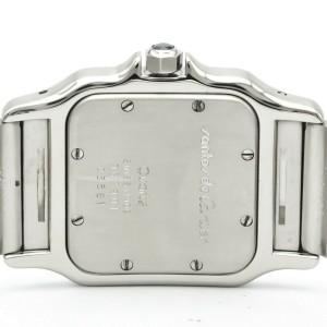 Polished CARTIER Santos Galbee Steel Quartz Mens Watch 987901