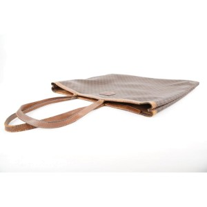 Celine Brown Monogram Macadam Tote Bag Shopper 351cel224