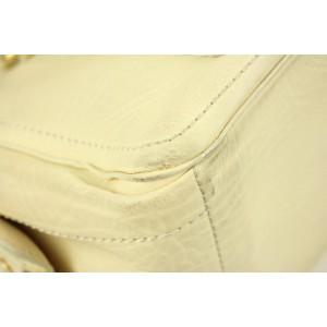 Céline Boogie Ivory Ce02 Cream Leather Satchel