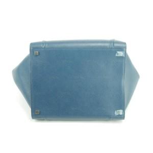 Céline Cabas Phantom 5ck0107 Grainy Medium Blue Leather Tote