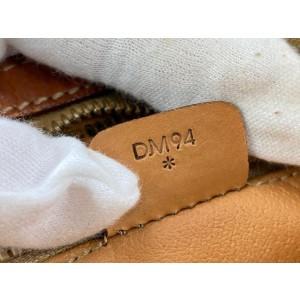 Céline Brown Monogram Macadam Zip Pouch Cosmetic Case Clutch 2cel519