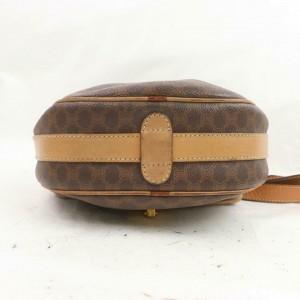 Céline Crossbody Macadam Flap Monogram 872410 Brown Coated Canvas Shoulder Bag