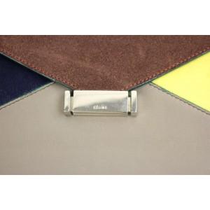 Céline Diamond Clutch 48cela617 Tricolor Shoulder Bag