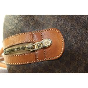 Céline Brown Macadam Boston Triomphe Duffle Bag with Lock and Key  100cel128