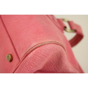 Céline Ella Long Doctor's Cesl27 Pink Leather Satchel