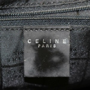 Céline Jacquard 870051 Black Canvas Backpack