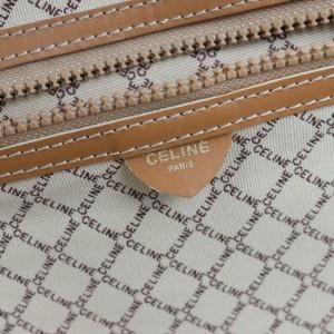 Céline Luggage Micro Gg Monogram Logo Suitcase 870268 Brown Coated Canvas Weekend/Travel Bag