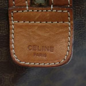 Céline Macadam Boston Duffle 872161 Monogram Brown Coated Canvas Weekend/Travel Bag