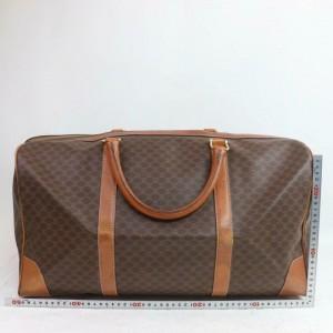 Céline Macadam Boston Duffle 872318 Monogram Brown Coated Canvas Weekend/Travel Bag