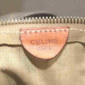 Céline Macadam Boston Duffle Extra Large Monogram 860068 Dark Brown Coated Canvas