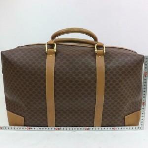 Céline Macadam Boston Duffle Extra Large Monogram 871737 Brown Coated Canvas Weekend/Travel Bag