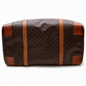 Céline Macadam Boston Duffle Monogam Triomphe 860050 Brown Coated Canvas Weekend/Travel Bag