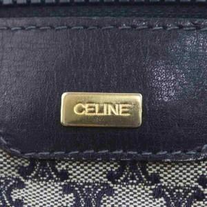 Céline Navy Monogram Macadam Boston Duffle  858507