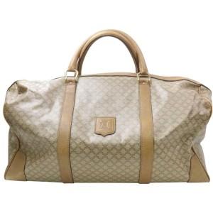 Céline Macadam Boston Duffle Monogram 871709 Beige Coated Canvas Weekend/Travel Bag
