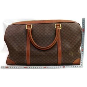 Céline Macadam Boston Duffle Monogram 871799 Brown Coated Canvas Weekend/Travel Bag