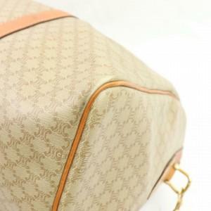 Céline Macadam Boston Duffle Monogram with Strap 870941 Beige Coated Canvas Weekend/Travel Bag