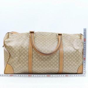Céline Macadam Boston Duffle Signature Monogram 870703 Beige Coated Canvas Weekend/Travel Bag