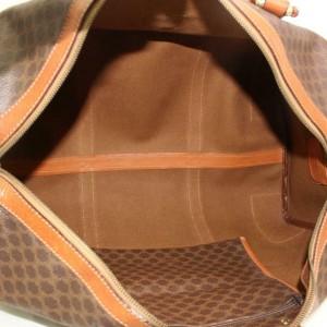 Céline Macadam Boston Duffle Monogram 870635 Brown Coated Canvas Weekend/Travel Bag