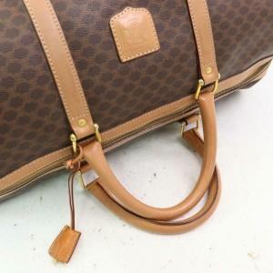 Céline Macadam Boston Duffle Monogram with Lock Key Set 870632 Brown Coated Canvas Weekend/Travel Bag